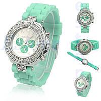 Женские наручные часы  Geneva Double Diamond 95/бирюзовые