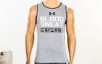 Компрессионная мужская майка Under Armour Blood Sweat CO-040-2(XL) (PL, хлопок, XL-175-180см, серый)