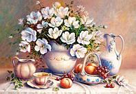 """Пазлы Castorland 2000 элементов """"Белые цветы в вазе.Копия Триши Хардвик"""""""