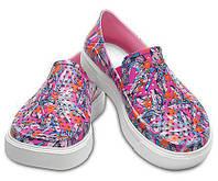Слипоны, мокасины детские для девочки  крокс Crocs Citilane Roka Graphic