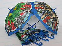 """Подростковый зонт-трость для мальчика """"Ниндзяго"""" Кай 5 - 10 лет, фото 1"""