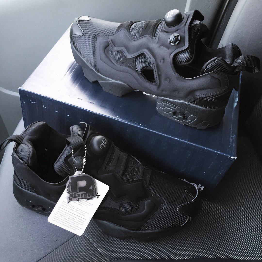753db0db4787 Reebok Insta Pump Fury OG Triple Black   кроссовки мужские и женские   черные  летние