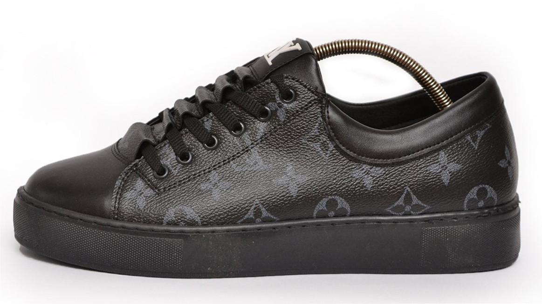 Мужские кеды Louis Vuitton Black Monogram Sneakers (Луи Витон) черные