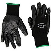 Рабочие черные нитриловые перчатки Boss размер M, фото 1