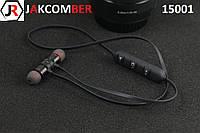 Стерео Блютуз (Bluetooth 4.1) наушник JAKCOMBER 15001 без лишних проводов с микрофоном На магнитах