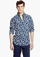 Рубашка MANGO MAN 258-46 Темно-синий