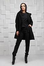 """Женское кашемировое пальто на запах """"Paris"""" с карманами и капюшоном (3 цвета), фото 3"""