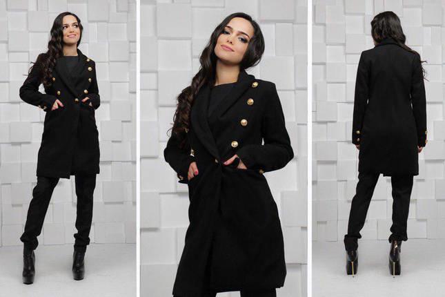 """Женское кашемировое пальто """"PARMA"""" с карманами, фото 2"""
