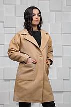"""Женское кашемировое пальто """"CINDY"""" с накладными карманами (2 цвета), фото 3"""