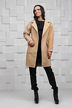 """Женское кашемировое пальто """"CINDY"""" с накладными карманами (2 цвета), фото 2"""