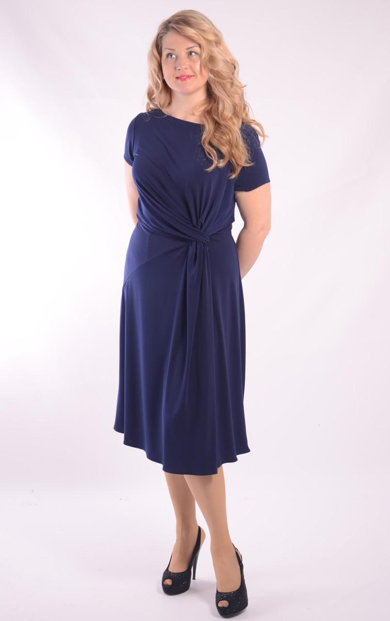 Коктейльна сукня синє довге міді Пл 154-2 , 50,52,54