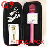 Розовый беспроводной караоке микрофон MicGeek (Tuxun) Q9 PRO + ЧЕХОЛ + ПОДАРОК