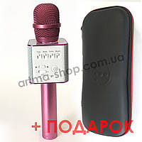 Беспроводной караоке микрофон MicGeek (Tuxun) Q9 PRO Pink (розовый) + ЧЕХОЛ + ПОДАРОК