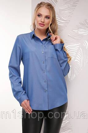 80badff0c9c Женская джинсовая рубашка больших размеров (1772 mrs) купить ...