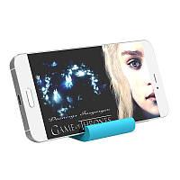 Подставка под смартфон или айфон Iphone многофункциональная из силикона ORICO PHS1 в виде синей кошечки, фото 1