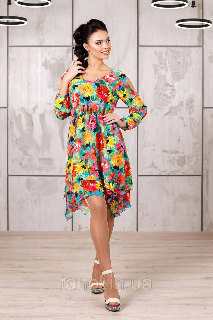 Платье Л-1044 Шифон Тон 33