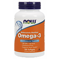 Omega 3 Now 100 soft, омега 3, 1000mg, Жирные кислоты в Украине
