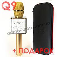 Беспроводной караоке микрофон MicGeek (Tuxun) Q9 PRO Gold (Золотой) + ЧЕХОЛ + ПОДАРОК
