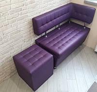"""Кухонный диванчик под размер """"Леонис"""" с боковой спинкой и утяжкой"""