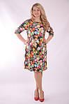 Платье свободного кроя трикотажное в цветах трапеция Пл 052-2 , 48,50,52 ., фото 4