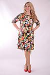 Платье свободного кроя трикотажное в цветах трапеция Пл 052-2 , 48,50,52 ., фото 5