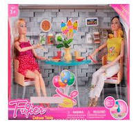 """Кукла шарнирная 2 шт """"В Кафе"""" Куклы с мебелью, JX 100-53, 007280"""