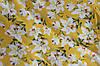 Ткань супер софт цветы на желтом