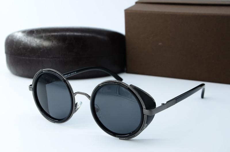 Steampunk круглые солнцезащитные очки c поляризацией 8359 с2-91