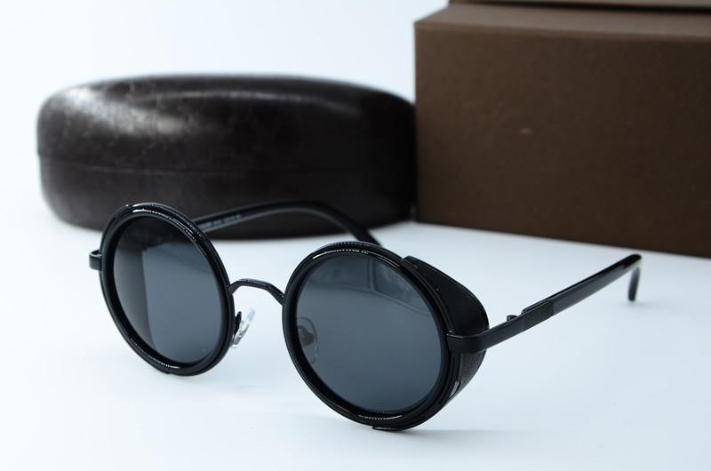 Мужские круглые солнцезащитные очки  8359 черн