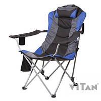 """Кресло """"Директор"""" d19 мм (синий), размер сиденья 63х56см., высота до сиденья46см., до 140кг"""