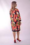 """Платье  Пл 070 с ярким """"фруктовым"""" 3-D дизайнерским принтом Dolce & Gabbana Яблоки , фото 3"""