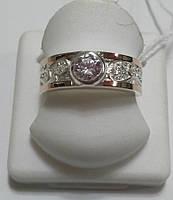 Серебряное кольцо Мотив с золотом и вензелями, фото 1