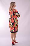 """Платье  Пл 070 с ярким """"фруктовым"""" 3-D дизайнерским принтом Dolce & Gabbana Яблоки , фото 5"""