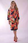 """Платье  Пл 070 с ярким """"фруктовым"""" 3-D дизайнерским принтом Dolce & Gabbana Яблоки , фото 6"""