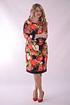 """Платье  Пл 070 с ярким """"фруктовым"""" 3-D дизайнерским принтом Dolce & Gabbana Яблоки , фото 4"""