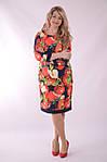 """Платье  Пл 070 с ярким """"фруктовым"""" 3-D дизайнерским принтом Dolce & Gabbana Яблоки , фото 7"""