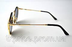 Стильные круглые женские солнцезащитные очки  3819, фото 3