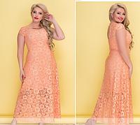 Вечернее гипюровое платье в пол  больших размеров. 5 цветов!, фото 1