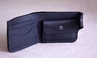 """Шкіряний гаманець кожаный кошелек """"Usual"""" ручної роботи, натуральна шкіра, на кнопці"""