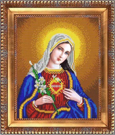 """Схема для вышивки бисером """"Открытое сердце Марии"""" К-4032"""