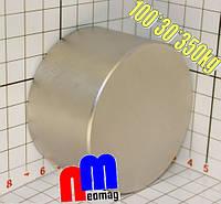 Тонкий мощний НЕОДИМОВИЙ МАГНІТ 100*30, 350кг, N42, фото 1