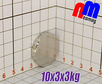 Малий неодимовий диск 10*3*3кг, N42,🔥ПОЛЬША🔥, фото 1