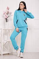 Спортивный женский бирюзовый костюм УЮТ TM Lenida 42-50 размеры