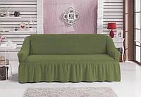 Чехол на 3-х местный диван зеленый (Турция)