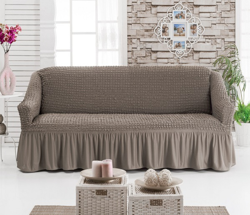 Чехол универсальный на диван цвет капучино (Турция)