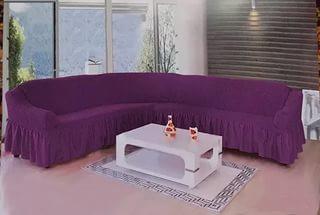 Чехол на угловой диван + кресло DO&CO, цвет фиолетовый