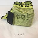Сумка мини Zara с заклепками Зара (Zara Go Crossbody Mini Bag Studded Yellow), фото 5