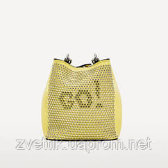 Сумка міні Zara з заклепками Зара (Zara Go Crossbody Mini Bag Studded Yellow)