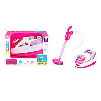 Детский Пылесос - игровой набор для уборки, звук, свет, пенопласт.шарики, 5998, на батарейках,в коробке 24-15-