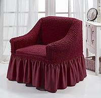 Чехол на кресло бордовый  Турция